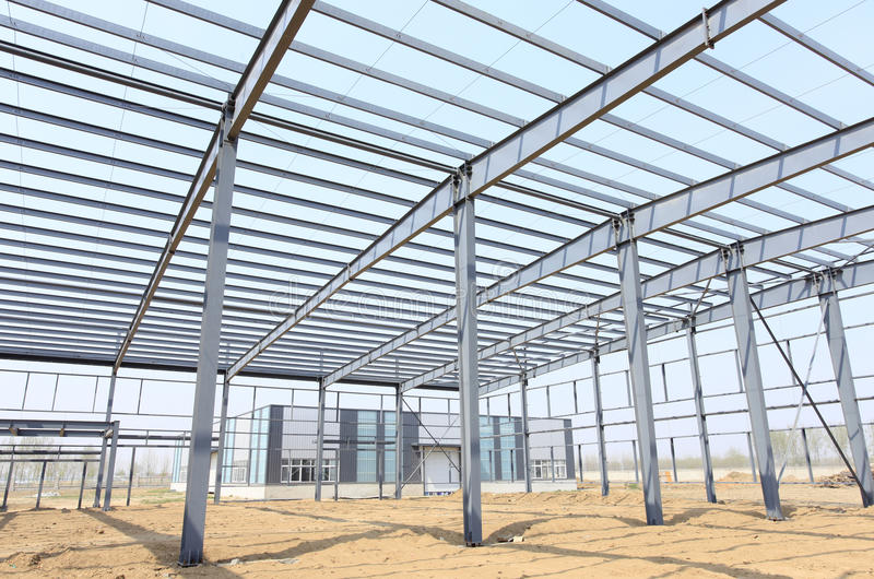 The steel structure. Is under construction stock photography