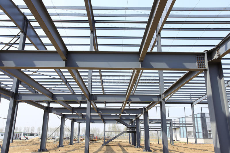 The steel structure. Is under construction stock photo