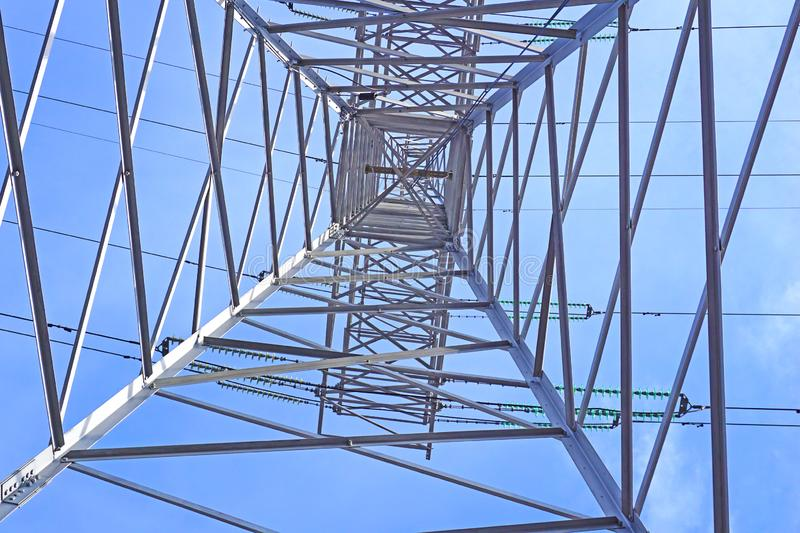 Steel support of high-voltage line royalty free stock image