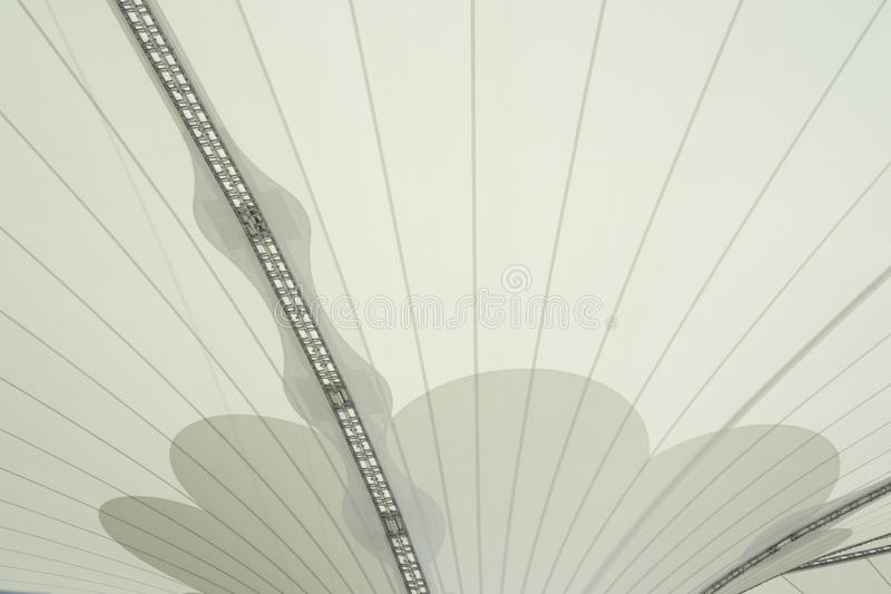 Steel Supports Of Awning Royalty Free Stock Photos