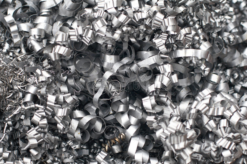 Steel swarf stock photography