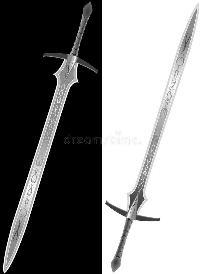 Steel sword of the knight vector illustration