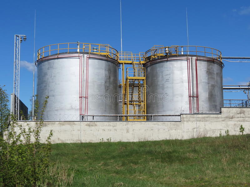 Download Steel tanks stock photo. Image of outside, factory, background - 24682114