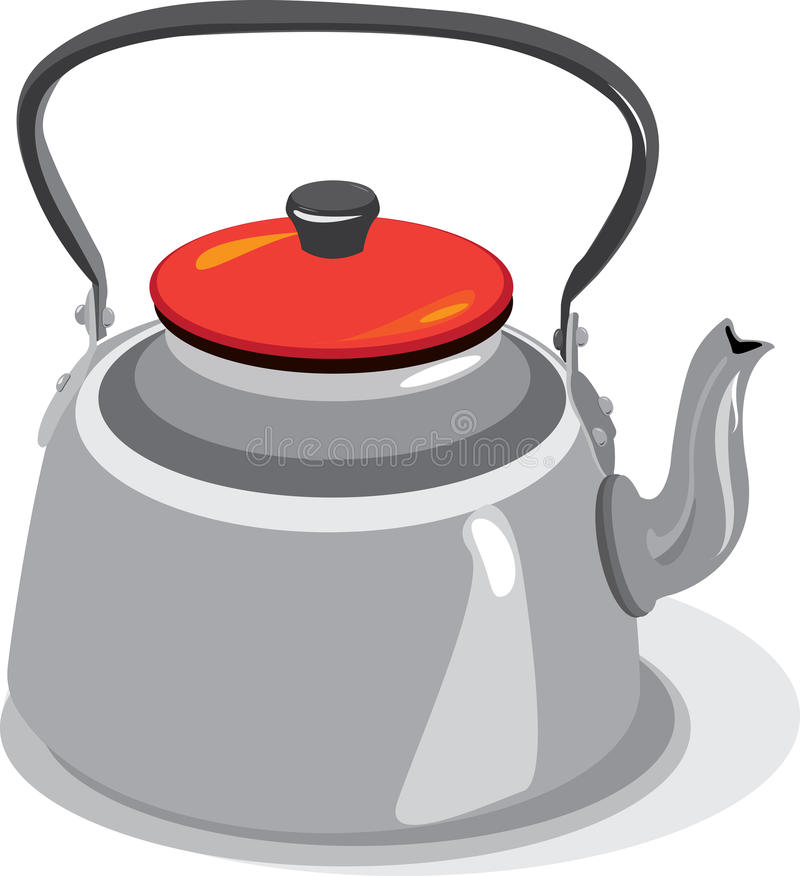 Steel teapot. Stainless steel teapot very common in Chile royalty free illustration