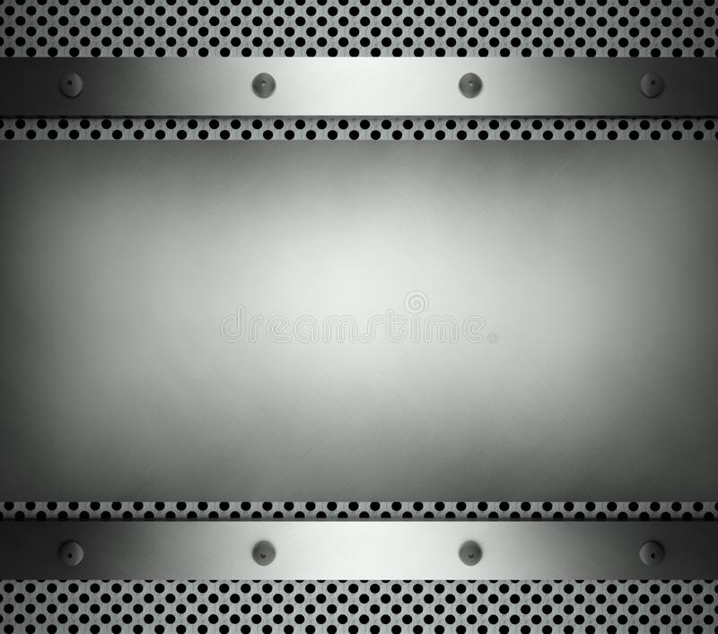 steel template with copy space metal background stock