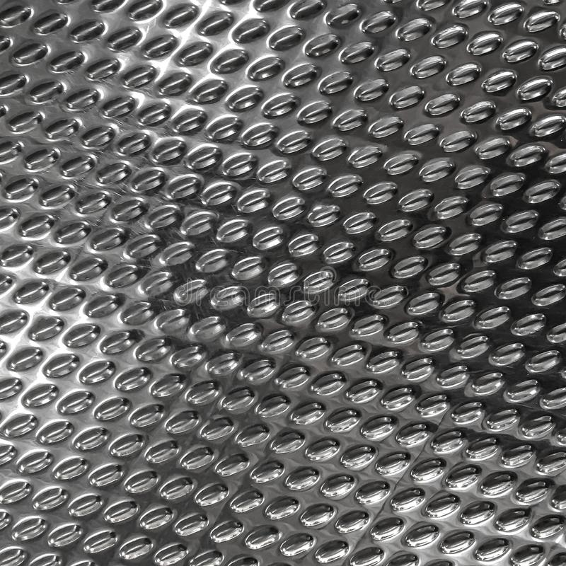 Steel texture background with rhombus and diamond shape. Brushed metal surface for industry royalty free stock photography