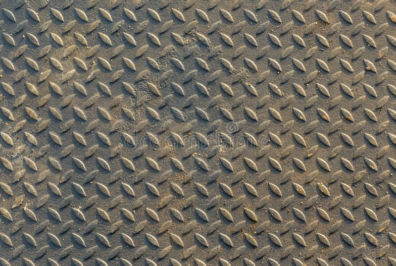 Steel texture from Manhole cover. Metallic background and wallpaper. royalty free stock photos