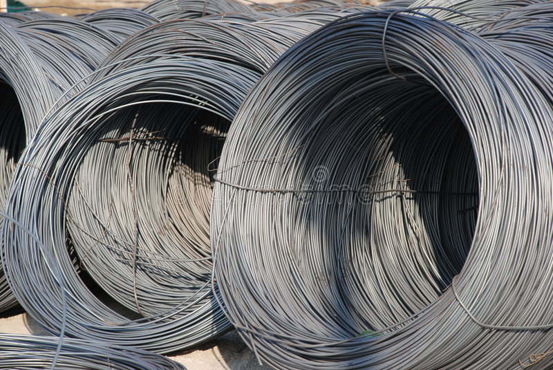 Steel thread rolls royalty free stock photo