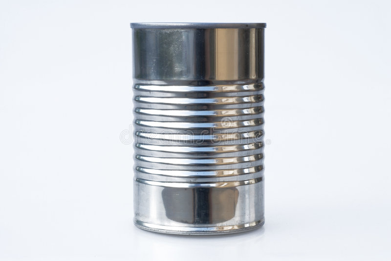Steel Tin Can royalty free stock photos
