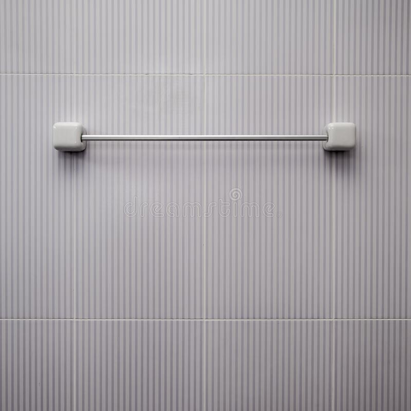 Free Steel Towel Holder On Wall Royalty Free Stock Image - 104897666