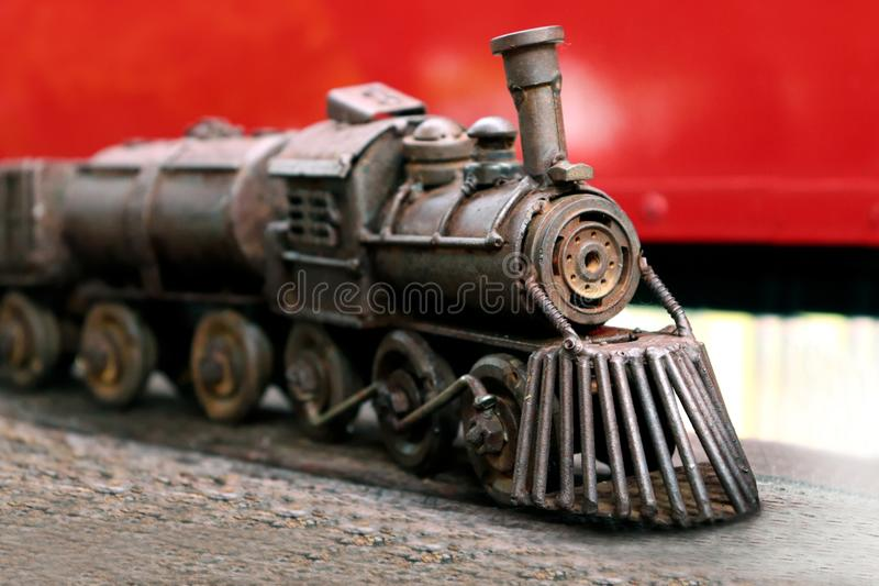 Steel Train Toys for Kids, Train Toys Collectibles. The Steel Train Toys for Kids, Train Toys Collectibles royalty free stock photography