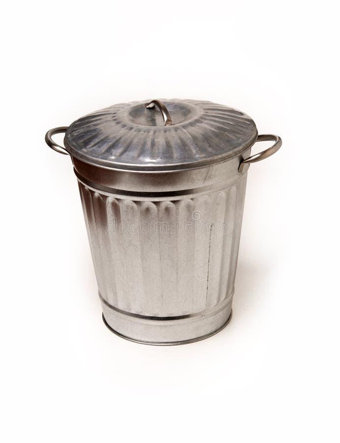 Steel trash garbage can bin