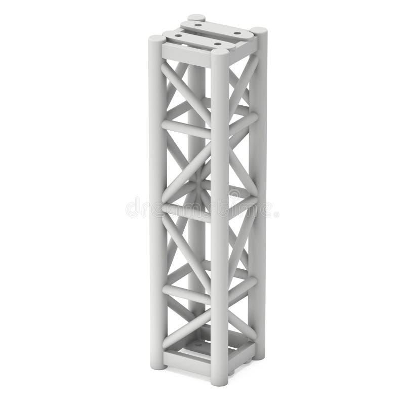 Steel truss girder element. 3d render isolated on white stock illustration