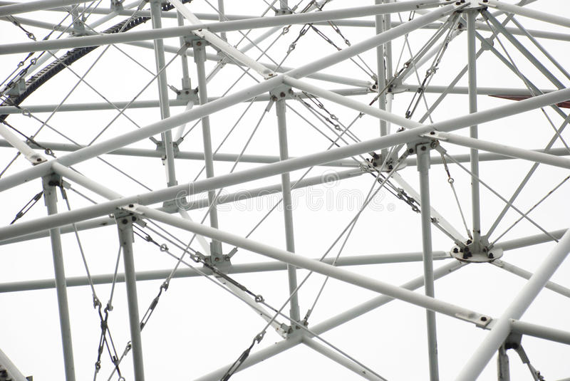 The steel tube structure. The steel tube triangle structure of a outdoor building tower stock photography