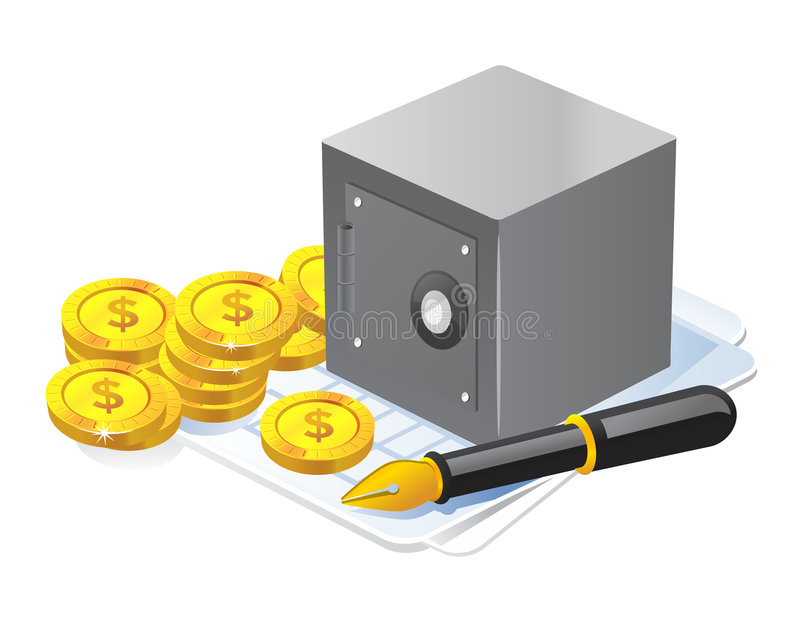 Steel vault Icon royalty free illustration