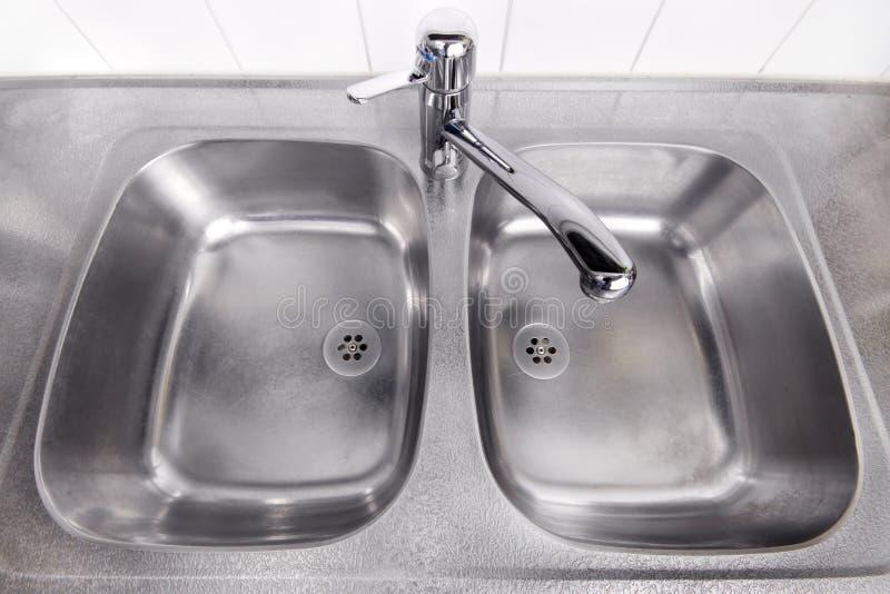 Steel Washbasin Royalty Free Stock Images