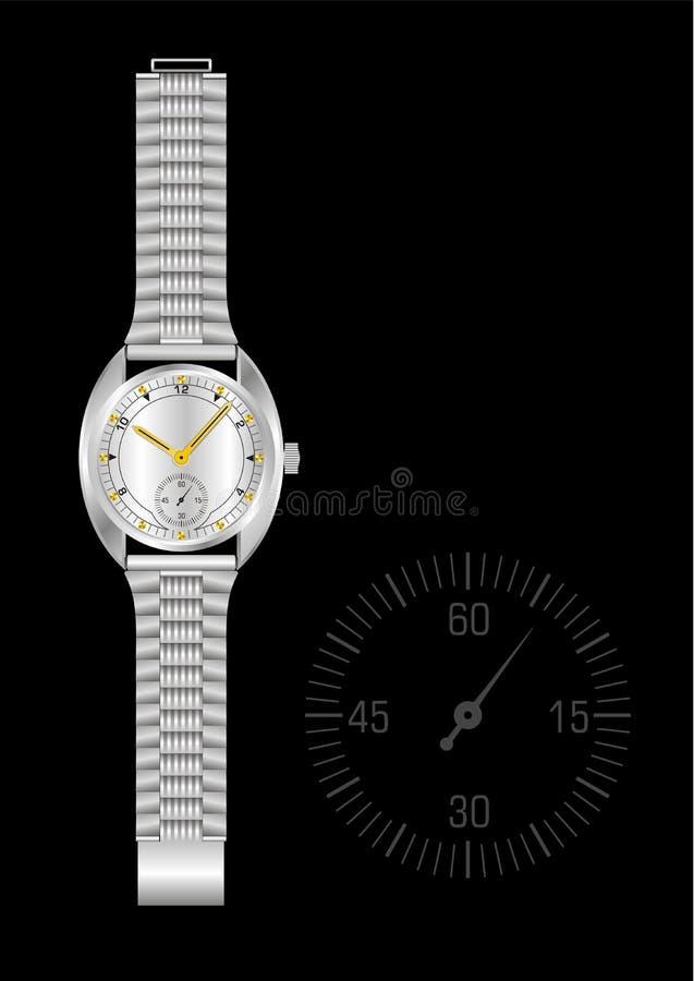 Download Steel watch stock vector. Illustration of chronometer - 1622126