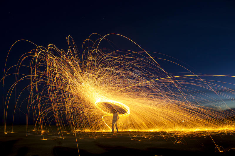 Steel wool Photography royalty free stock photos