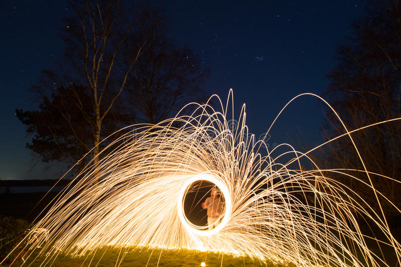 Steel Wool Photography royalty free stock images
