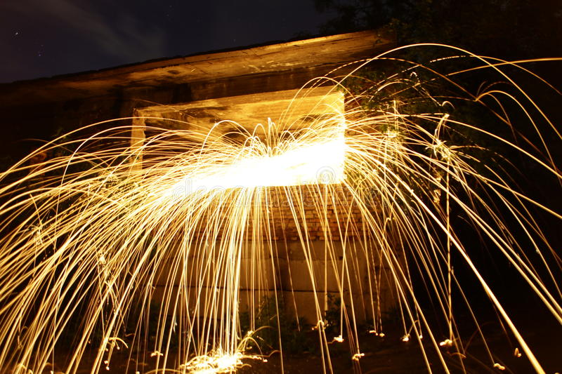 Steel wool. Shining from the window royalty free stock image