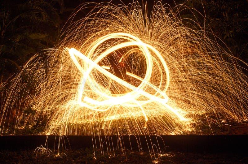 Steel Wool Sparks stock image
