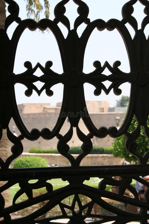 Steel-work window royalty free stock photos