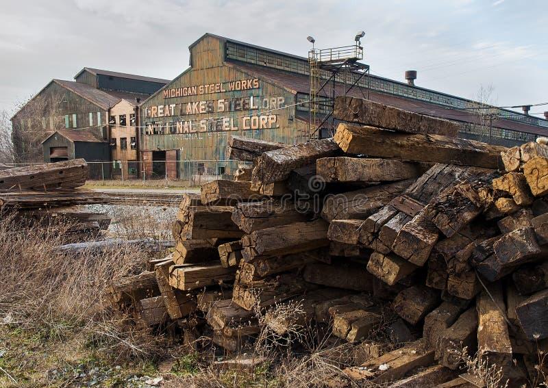 Steelmill abandonado fotos de stock