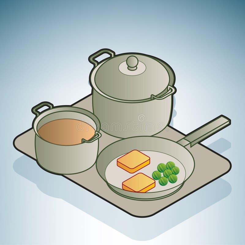 Steelpan & pan vector illustratie