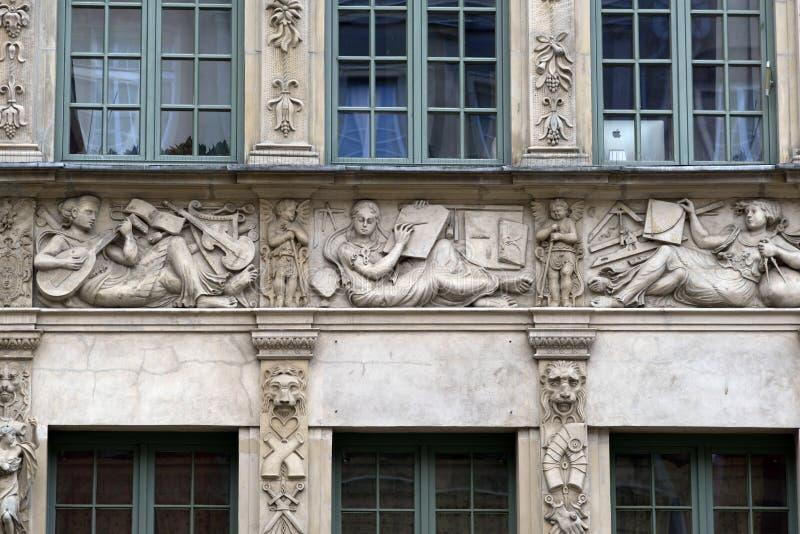 Steen bas-hulp van Gdansk royalty-vrije stock afbeeldingen