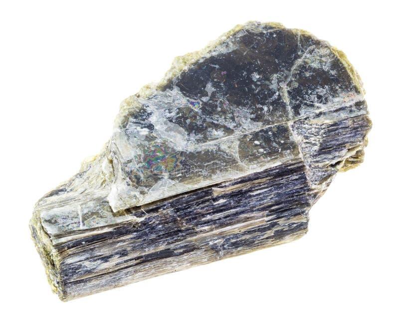 steen de ruwe van het micamica (gemeenschappelijk mica) op wit royalty-vrije stock foto