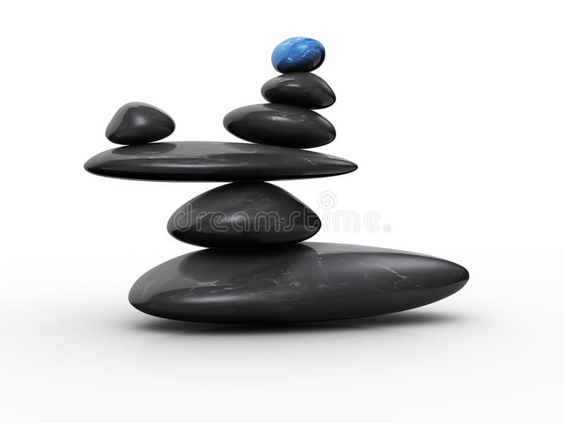Steen in evenwicht stock illustratie