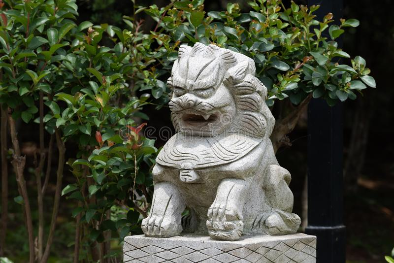 Steen leeuw-steen gravure royalty-vrije stock foto's