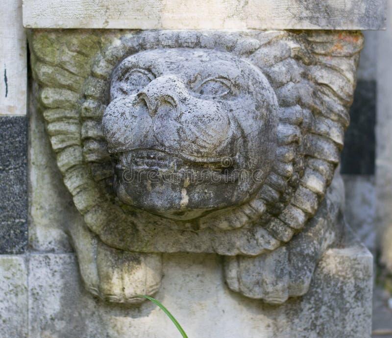 Download Steen Lion Head Decoration stock foto. Afbeelding bestaande uit hoofd - 39112368