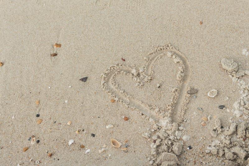 Steen, Shells in het zand op het strand in de zomer royalty-vrije stock foto