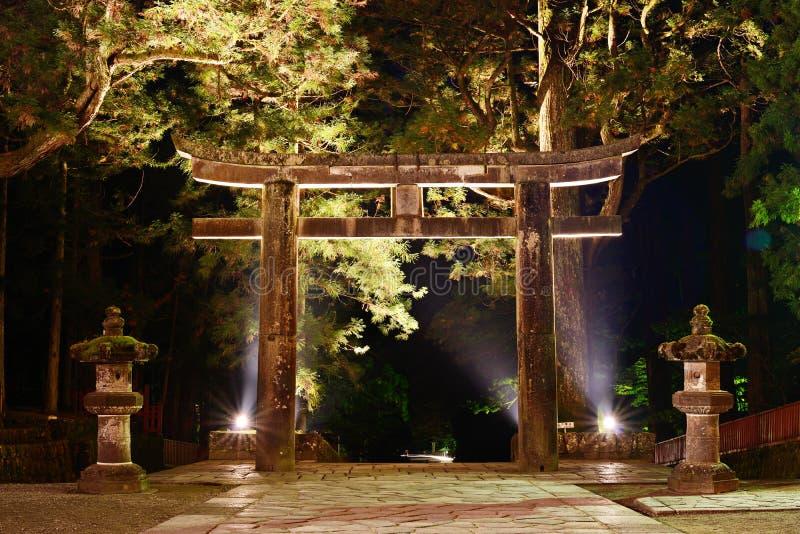 Steen Tori Gate in Nikko, Japan. royalty-vrije stock afbeelding