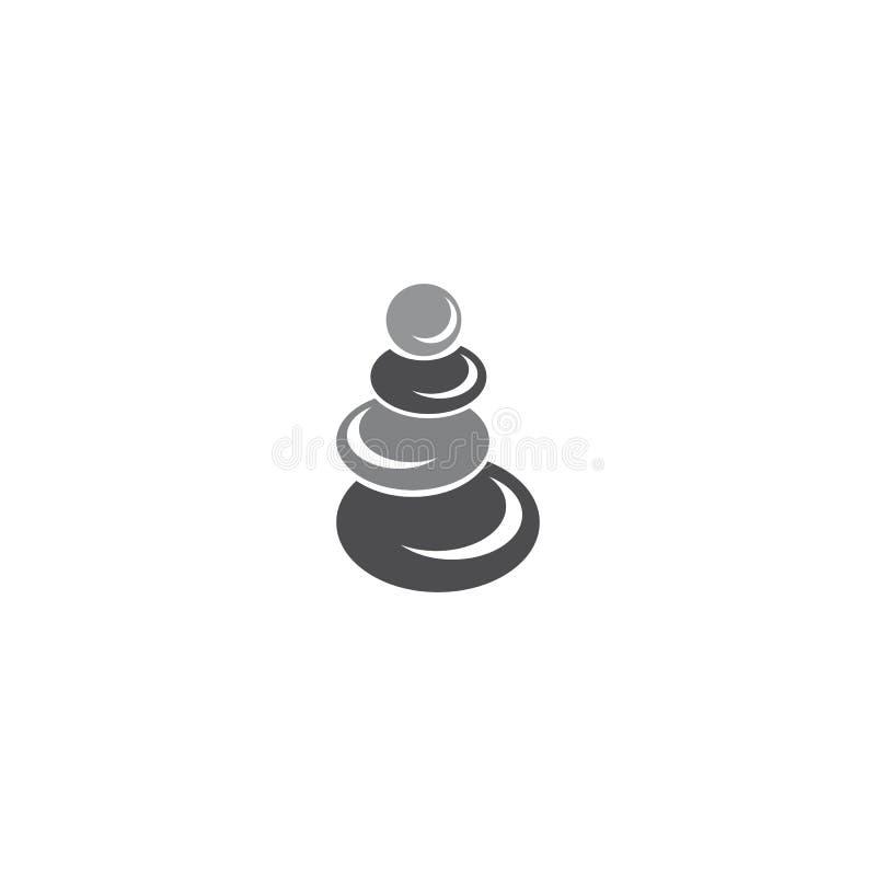 Steen van het spa-logo stock illustratie