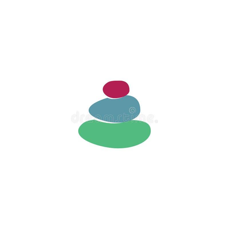 Steen van het spa-logo royalty-vrije illustratie
