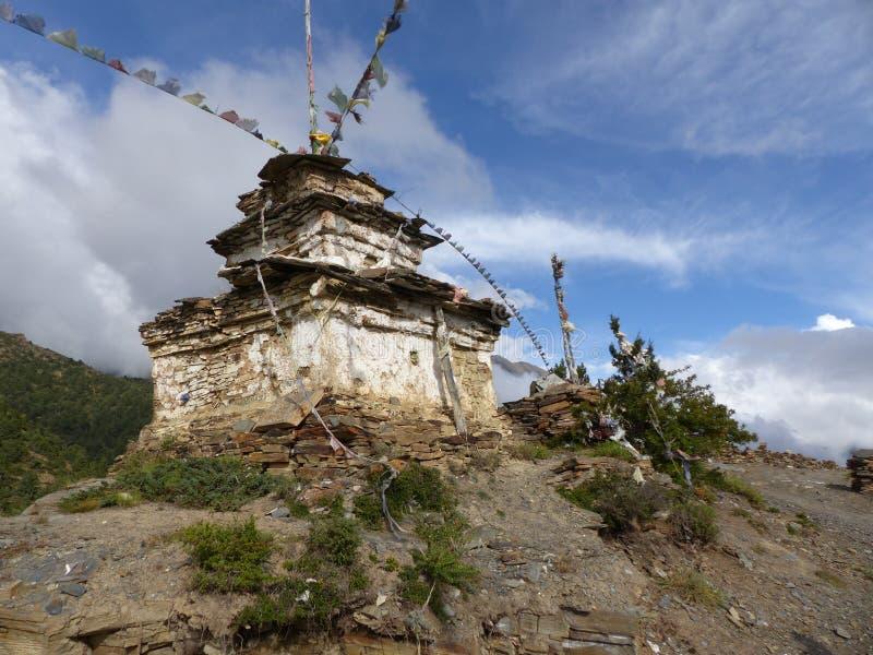 Steenachtige stupa royalty-vrije stock afbeeldingen