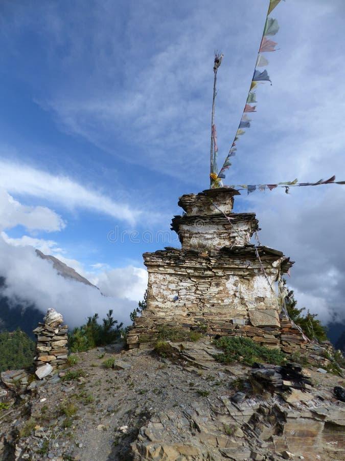 Steenachtige stupa royalty-vrije stock afbeelding