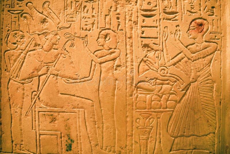 Steenartefact van oud Egypte - Stela van Seba royalty-vrije stock foto