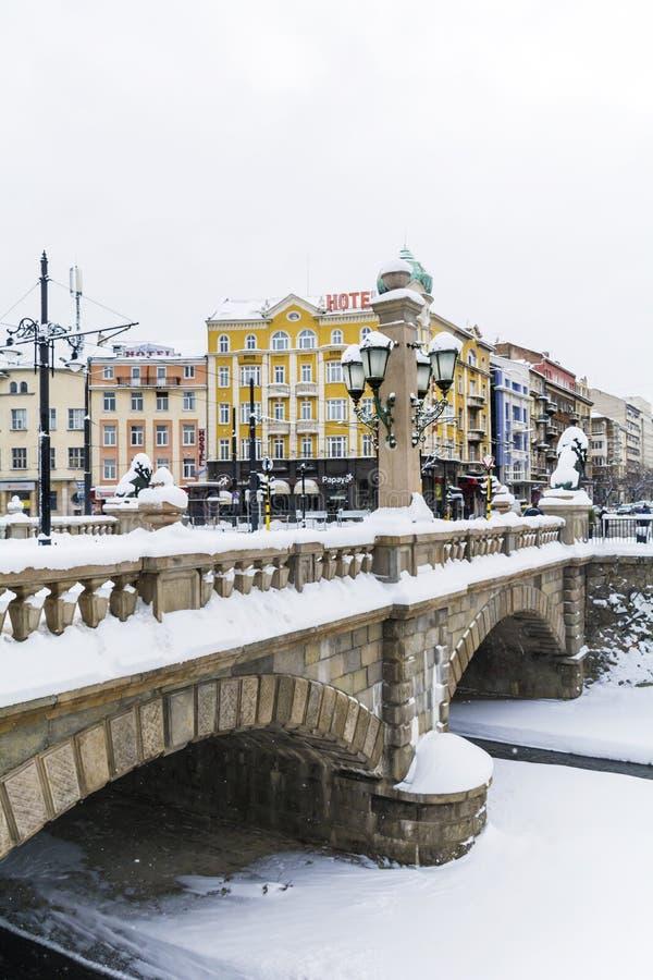 Steenbrug in Sofia, Bulgarije stock afbeeldingen