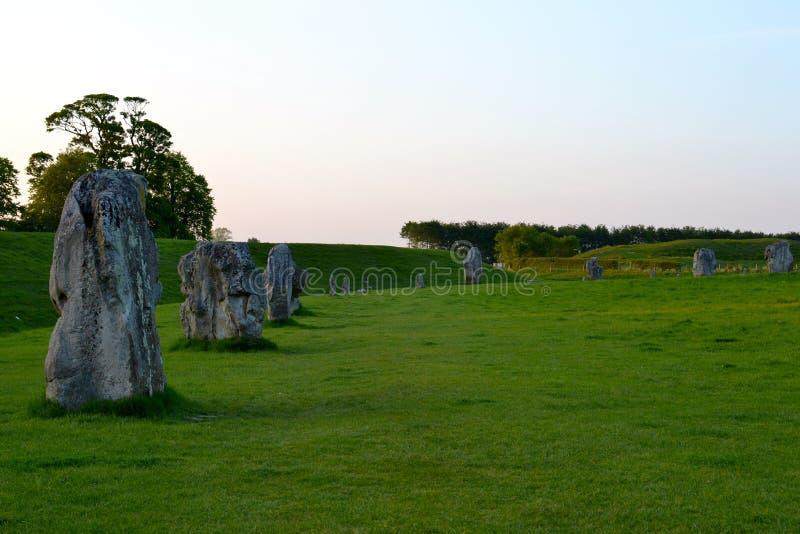 Steencirkel in Avebury royalty-vrije stock afbeelding