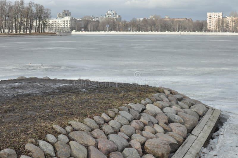 Steeneiland in St. Petersburg royalty-vrije stock afbeeldingen