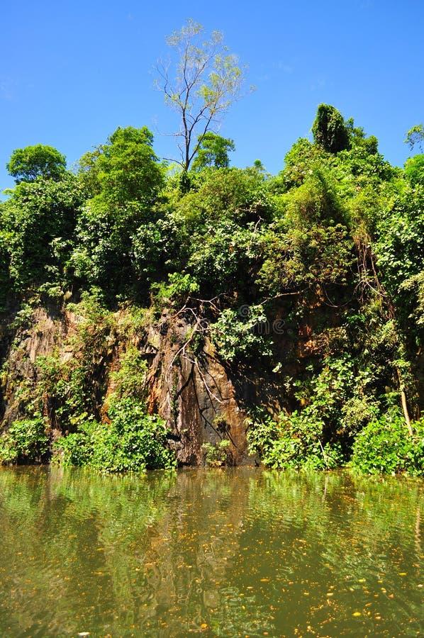 Steengroeve bij de aardpark van Bukit Batok stock foto