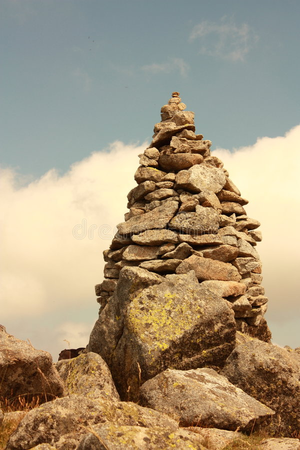 Steenhoop in de Pyreneeën stock afbeelding