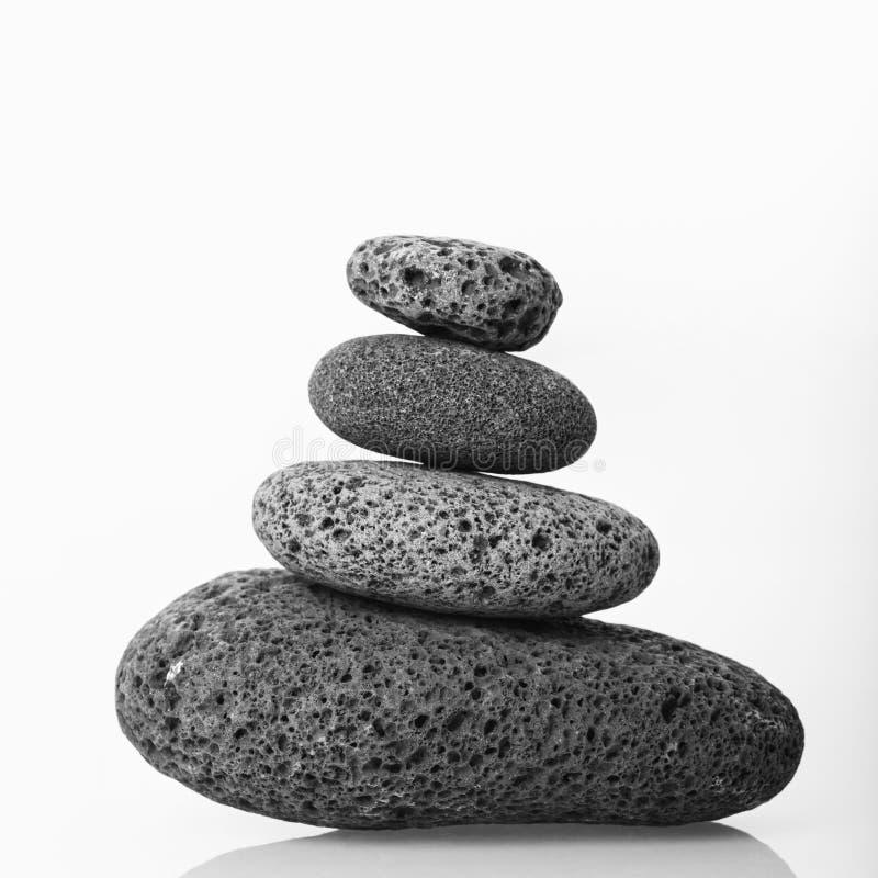 Steenhoop van vlotte stenen. royalty-vrije stock afbeeldingen