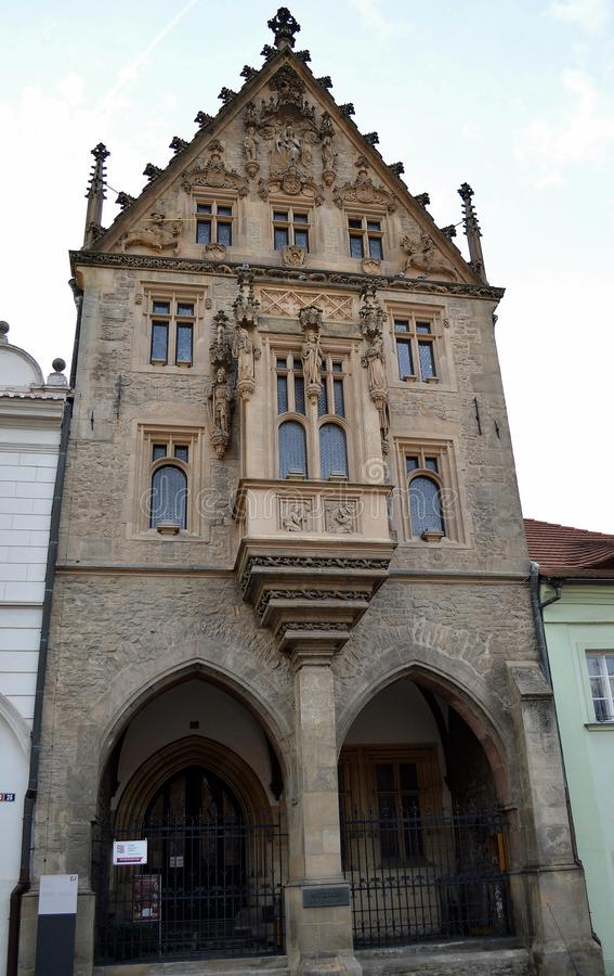 Steenhuis in Kutna Hora, Tsjechische Republiek stock foto