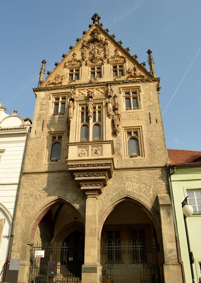 Steenhuis in Kutna Hora, Tsjechische Republiek royalty-vrije stock afbeelding