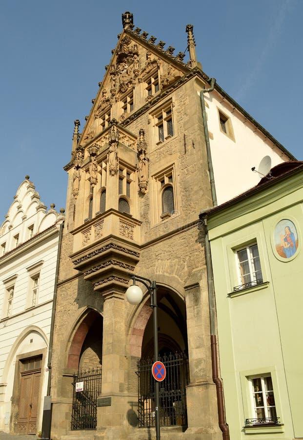 Steenhuis in Kutna Hora, Tsjechische Republiek stock afbeelding