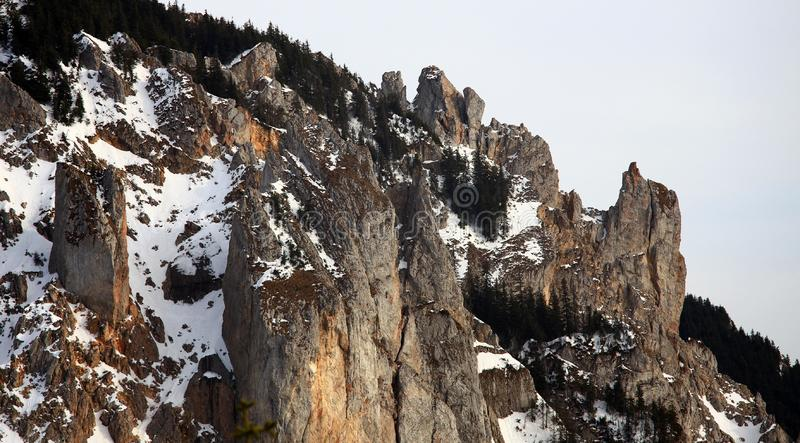 Steenklippen in de bergen stock foto's